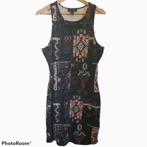 Forever 21 Plus Bodycon Print Dress Size 2X